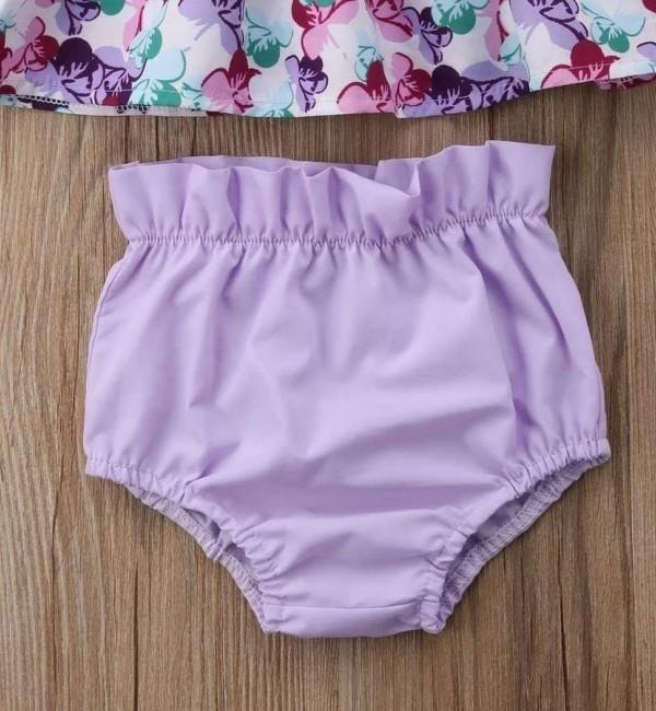 Плажен лилав комплект