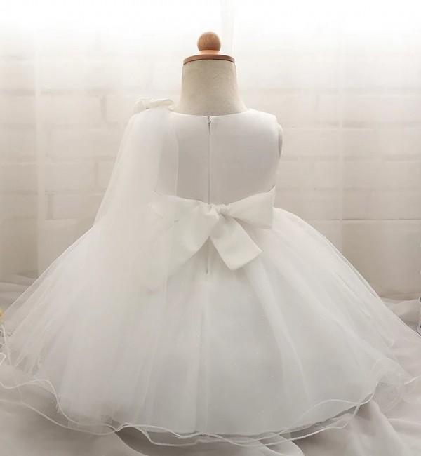 Официална дантелена рокля с панделка
