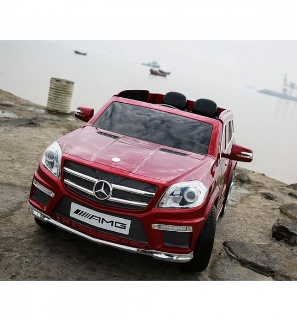 Акумулаторен джип Mercedes GL63 12V с меки гуми и кожена седалка
