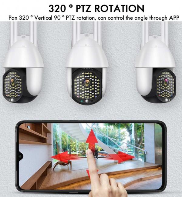 Водоустойчива wifi camera full hd 1080p 68 led 320 въртяща се камера