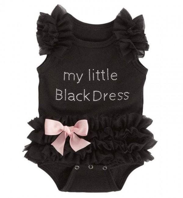 """Детско боди """"Малка черна рокля"""""""