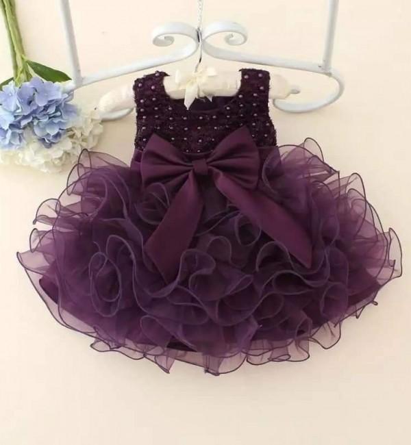 Лилава официална рокля